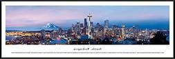 Seattle, Washington - Blakeway Panoramas Skyline Posters wit