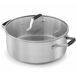 Select by Calphalon Stainless Steel 5-Quart Dutch Oven