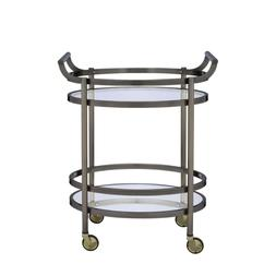 Serving Cart Lakelyn Two Shelves Kitchen Metal Frame Handles