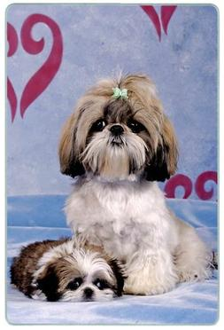Canine Designs Shih Tzu Tempered Glass Cutting Board - Small