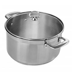 Chantal SLIN32-240 Induction 21 Steel Casserole with Glass T