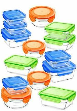 Snaplock Lid Tempered Glasslock Storage Containers assorted