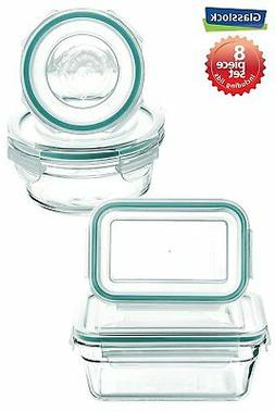 New Snaplock Lid: Tempered Glasslock Storage Containers 8pc
