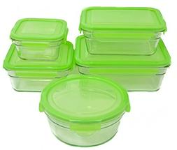 Snapware Glasslock Safe Food Glass Containers Set, Set of 5
