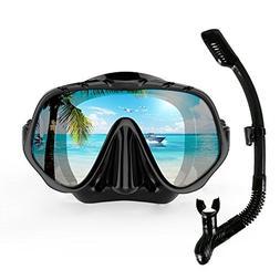 COPOZZ Snorkel Mask, Snorkeling Scuba Dive Glasses, Free Div