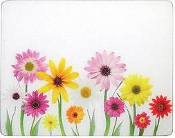 15 X 12 Spring Daisies Surface Saver Tempered Glass Cutting