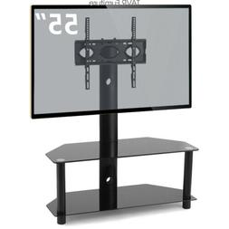 TAVR Floor TV Stand with Swivel Mount and Height Adjustable