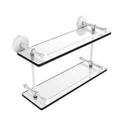 Allied Precision Industries 16 Inch Tempered Double Glass Sh