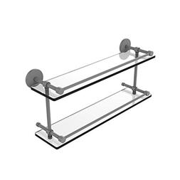 Allied Precision Industries 22 Inch Tempered Double Glass Sh