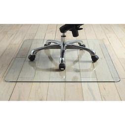 "Lorell Tempered Glass Chair Mat 36"" x 46"" Scratch Resistant"
