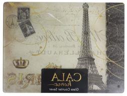 Cala Home Tempered Glass Cutting Board Counter Saver Paris E
