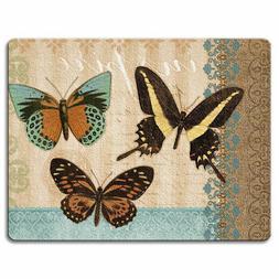 Tempered Glass Cutting Cheese Board 8x10 Butterflies & Burla
