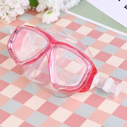 Tempered Glass Diving Mask Silicone Swimming Goggles Clear D