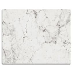 CounterArt 'Off-White Carrara Marble' Design Tempered Glass