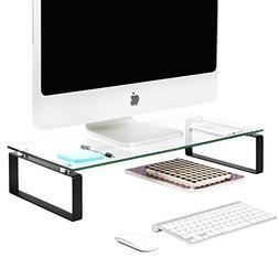 JackCubeDesign Tempered Glass Monitor Stand Computer Desktop