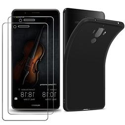 Wellead Huawei Mate 9 Screen Protector and Black Case,]Tempe