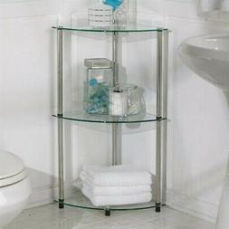 Glass Three Tier Corner Shelf