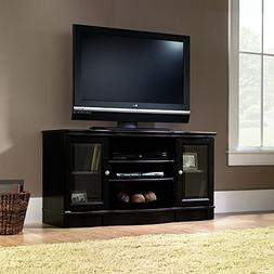 Tv Stand Black For Flat Screens Wood Premium Low Entertainme