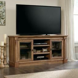 SAUDER TV Stand Rustic Cable Management Safety-Tempered Glas