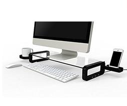 UBOARD SMART - Tempered Glass Monitor Stand   Black
