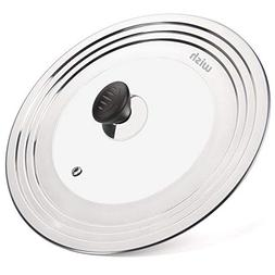 """WISH Universal Pan Lid Pot Lid for All 8.25"""" to 12.5"""" Pots/P"""