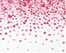 Vance 15 X 12 inch Valentine Hearts Confetti Surface Saver T