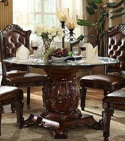 ACME Vendome Cherry Dining Table with Pedestal