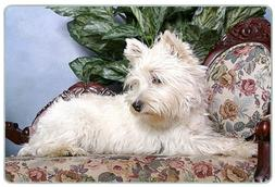 Canine Designs West Highland White Terrier Tempered Glass Cu