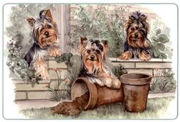 Canine Designs Yorkshire Terrier Tempered Glass Cutting Boar