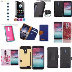 ZTE Zmax Pro Z981 Case / Wallet / Holster / Tempered Glass /